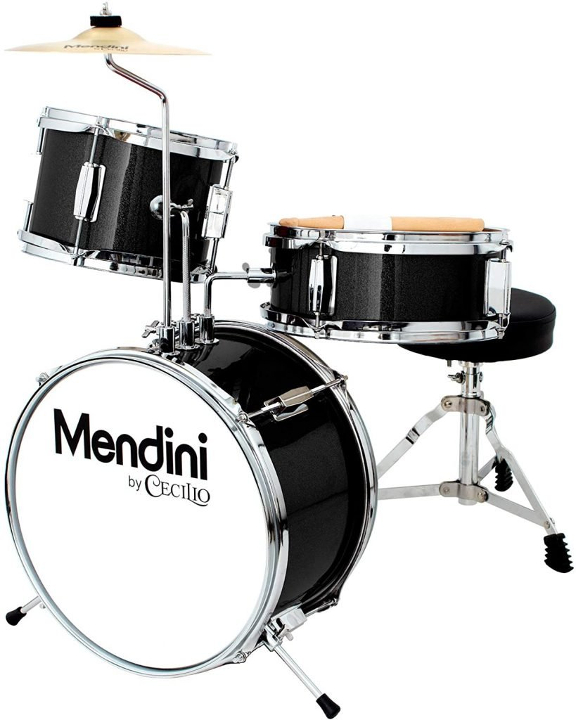 Mendini By Cecilio 13 Inch 3 Piece Kids Junior Drum Set