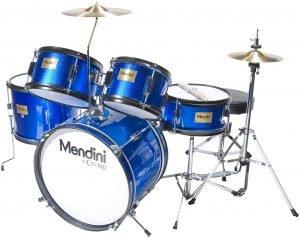 Mendini By Cecilio 16 Inch 5 Piece Complete Kids Junior Drum Set
