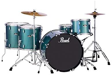 Pearl Roadshow 5 Piece Complete Drum Set With Cymbals Rock
