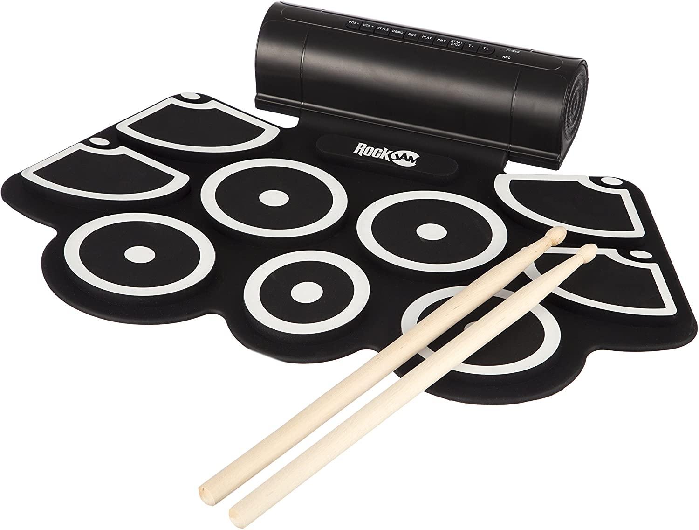 Rockjam Portable Midi Electronic Roll Up Drum Kit Set