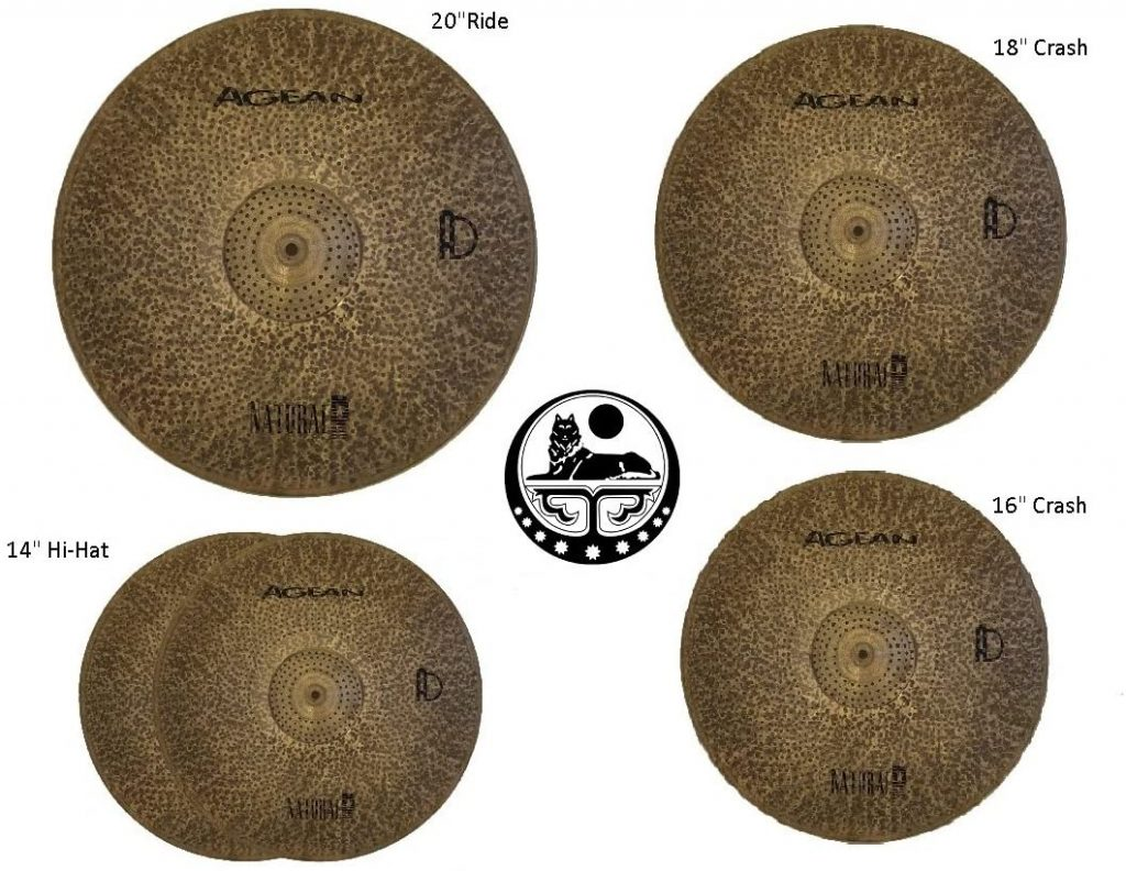Agean Cymbals Silent R Series Low Volume Cymbal Pack Box Set
