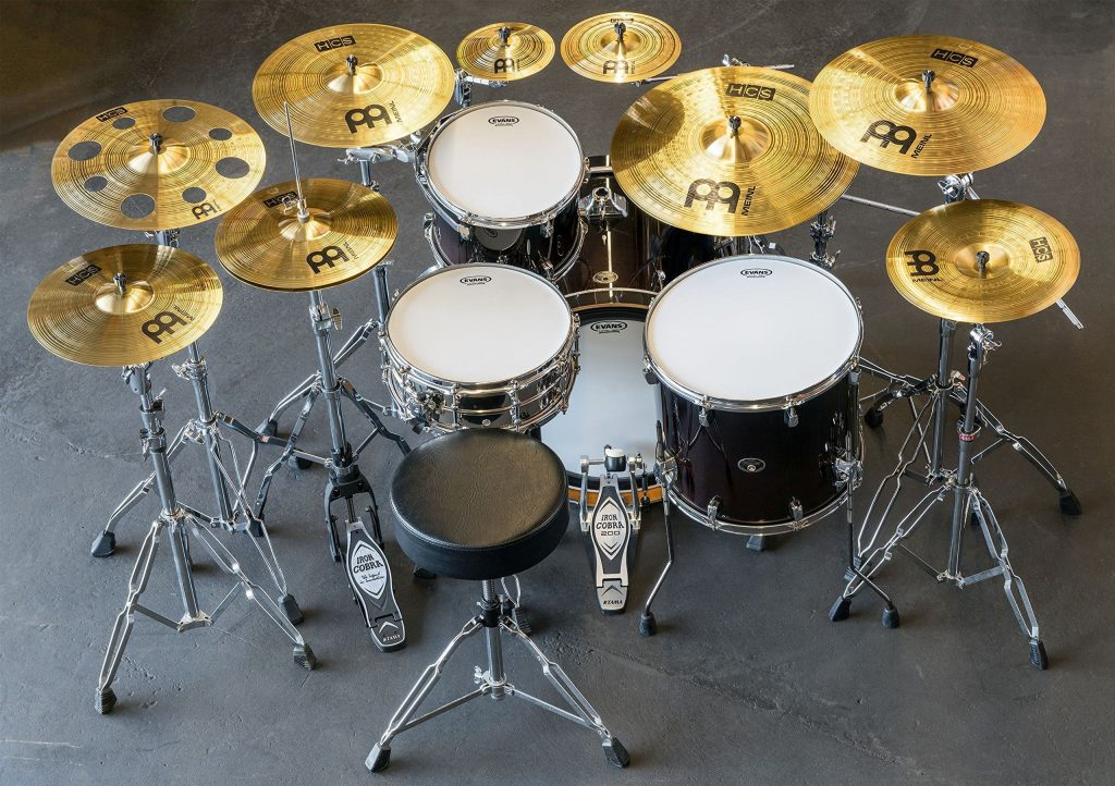 Cymbal With Holes Drum Set