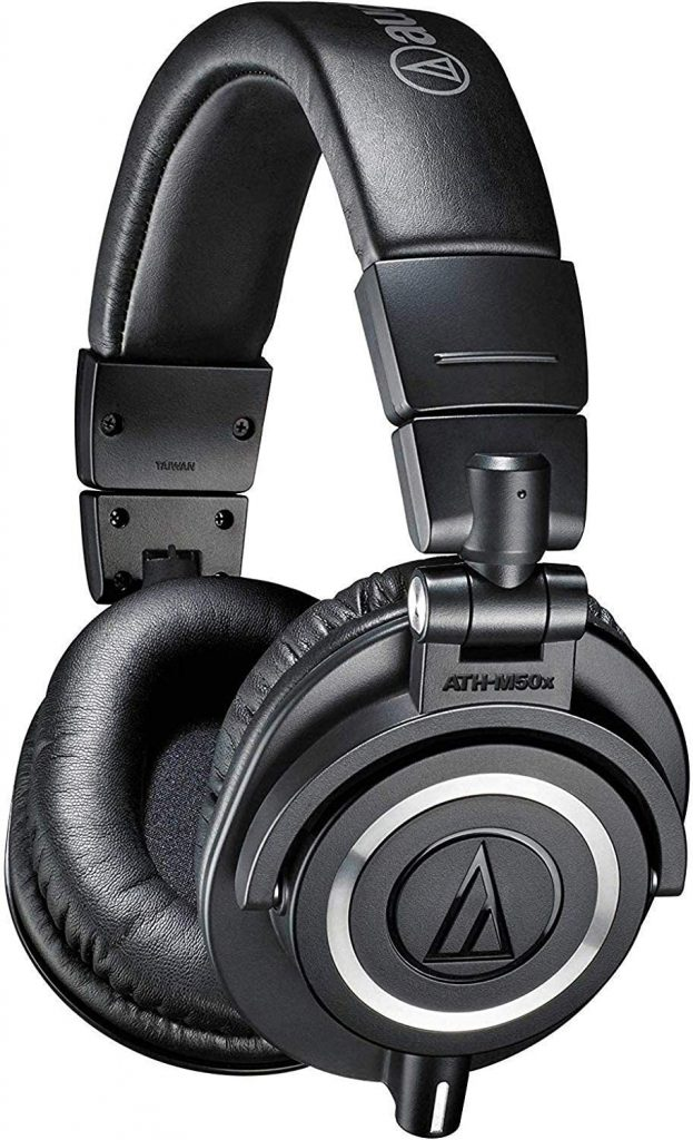 audio technica ath m50x professional studio monitor headphones black professional grade critically acclaimed with detachable cable