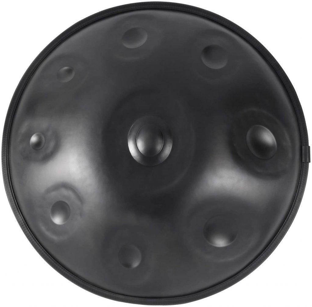 handpan steel hand drum in d minor 9 notes 22 inches56 cm brozne surface with soft hand pan bag d3 a bb c d e f g a upgrade gray