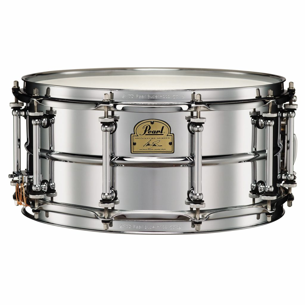 pearl steel shell 6.5 x 14 inch snare drum chrome