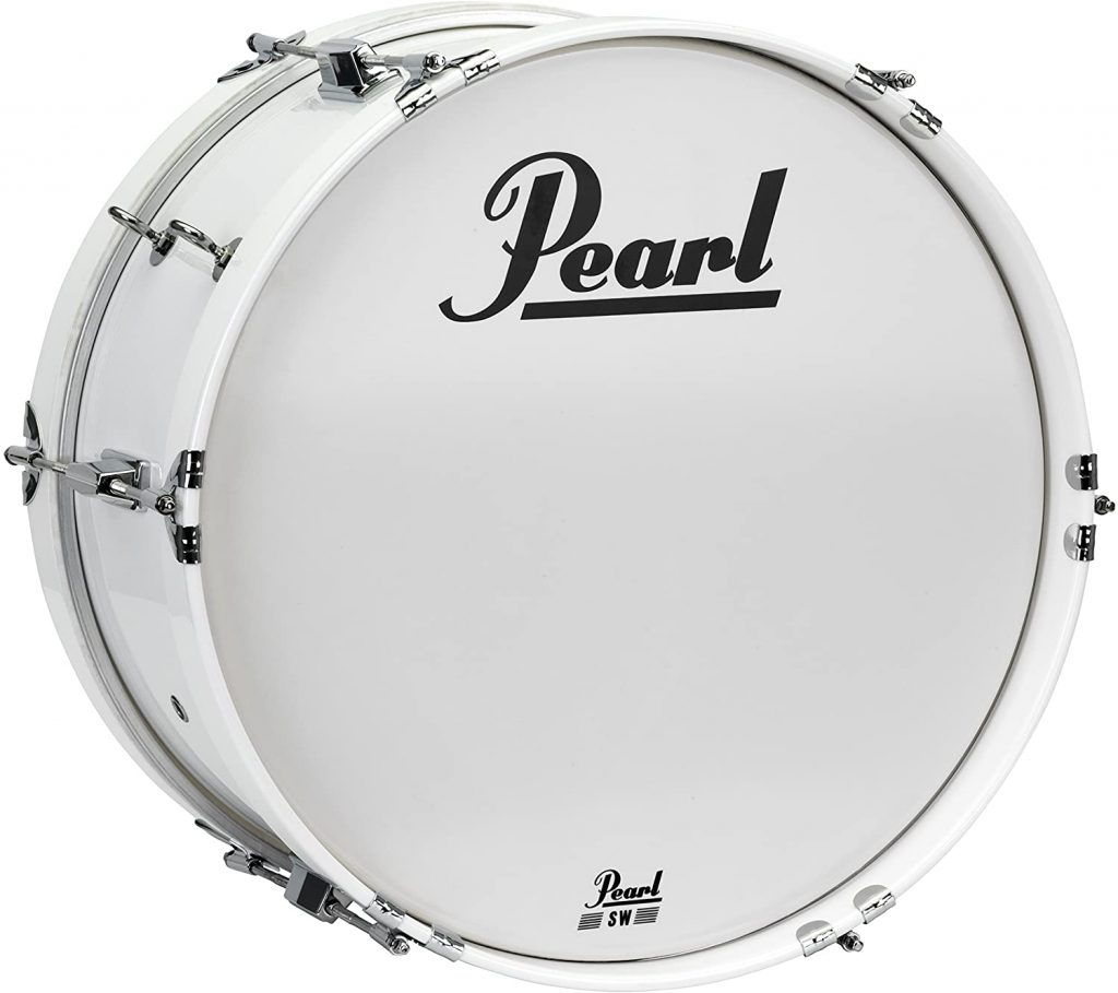 pearl mjb1808 or cxn33 18 x8 inch junior marching bass drum and carrier