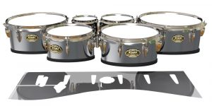 tama marching snare drum slip silver chrome