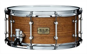 tama slp bold spotted gum snare drum 6.5 x 14 inch – natural