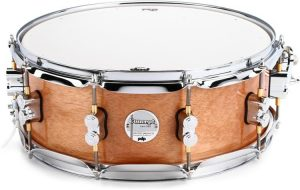 pdp concept exotic snare drum 5.5 x 14 inch honey mahogany