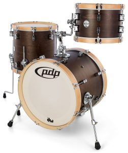 pdp concept maple classic 3 piece shell kit with wood hoops