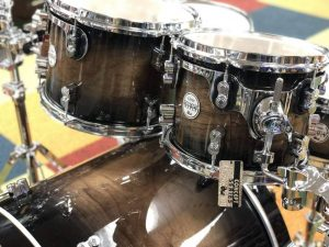 pdp concept maple exotic series 5 piece shell pack walnut charcoal