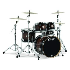 pdp concept maple exotic shell pack 5 piece charcoal burst over walnut