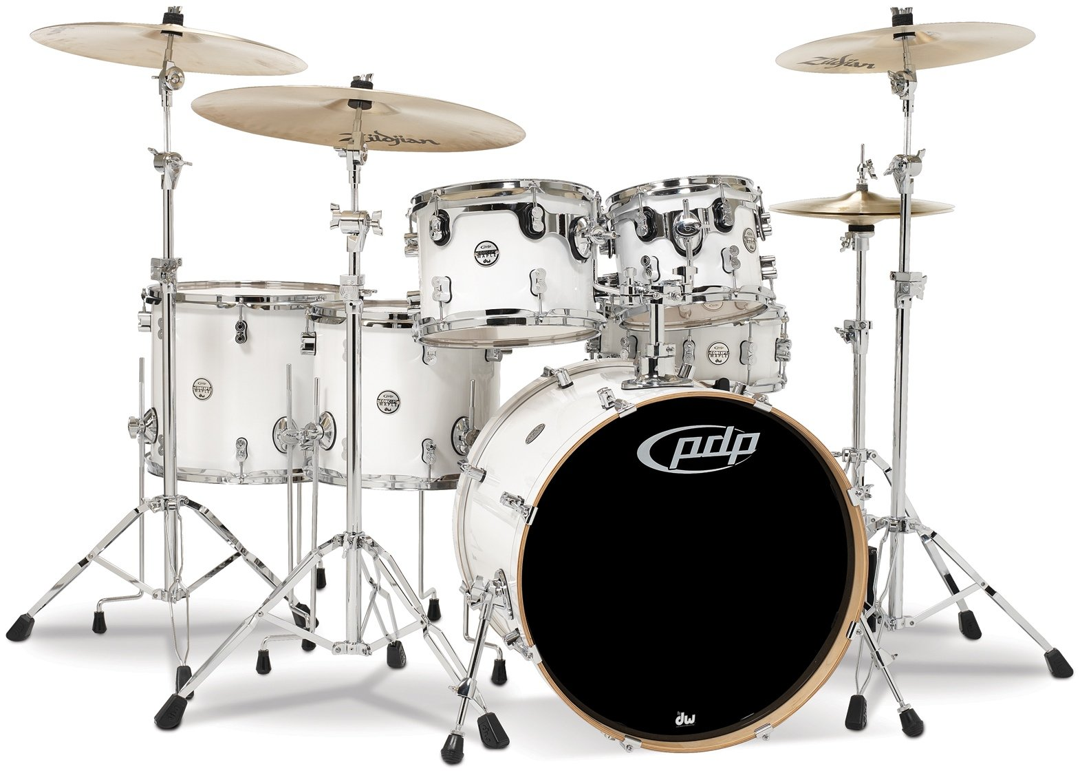 pdp concept maple shell pack 6 piece pearlescent white