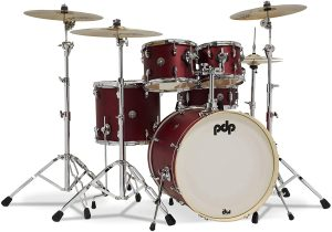 pdp spectrum series 5 piece shell pack 22 kick – red
