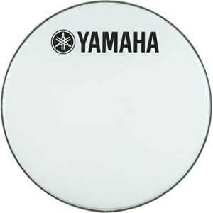 yamaha marching bass drum head with fork logo white 26 inches
